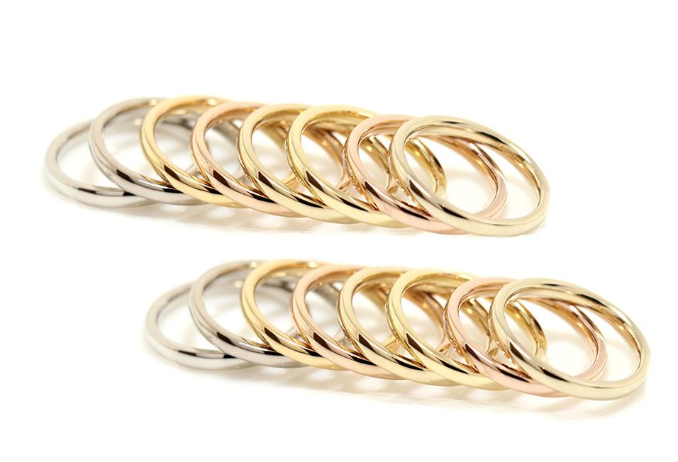 手づくり結婚指輪・婚約指輪 atelierROEの選べる10種類の金属素材